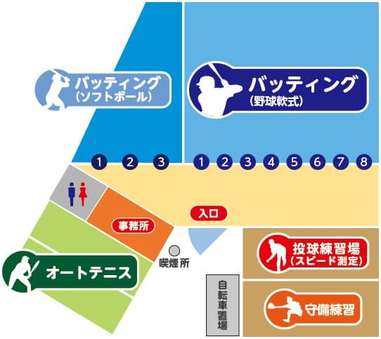 施設案内図|狭山スポーツセンター